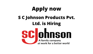 S C Johnson Products Pvt. Ltd. is Hiring | Procurement Associate Manager | Diploma/ Degree in Any Engineering/ Science |