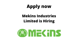 Mekins Industries Limited is Hiring | Design Engineer | Diploma/ BE/ BTech in Mechanical |
