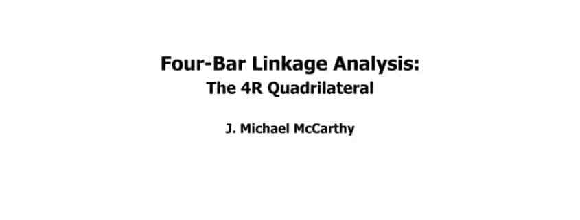 Four-bar linkage analysis