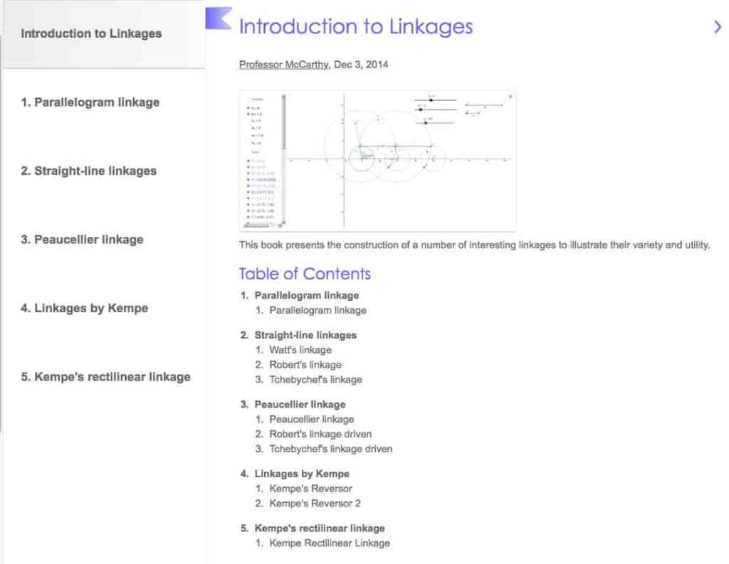Introduction to Linkages