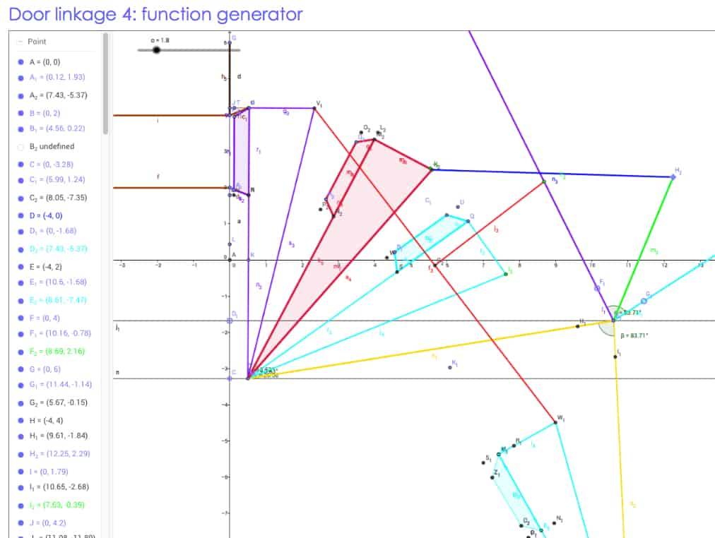 Four-bar function generator