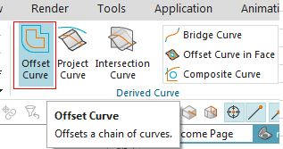 siemens nx offset curve command icon