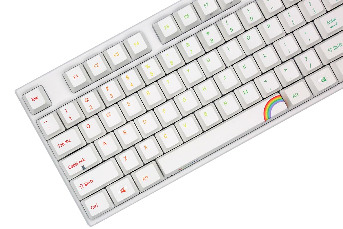 Varmilo Va87m Rainbow White Led Tkl Dye Sub Pbt Mechanical