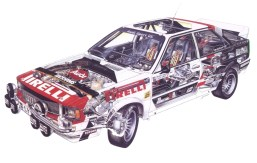 Audi quattro cutaway 2