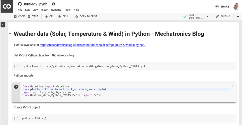 Weather data: Solar, Temperature & Wind in Python - Mechatronics Blog