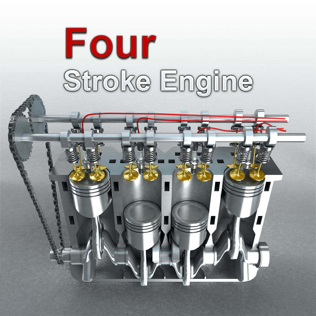 How does a 4 stroke engine work ?