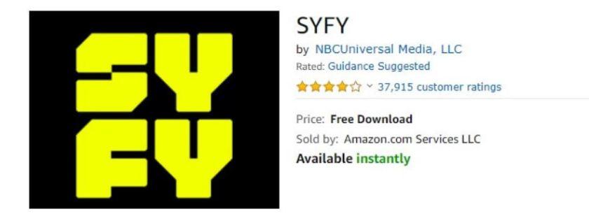 Syfy on Amazon Fire TV