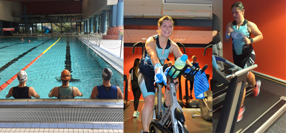 Wettkampf: 1. nationaler Indoor-Triathlon