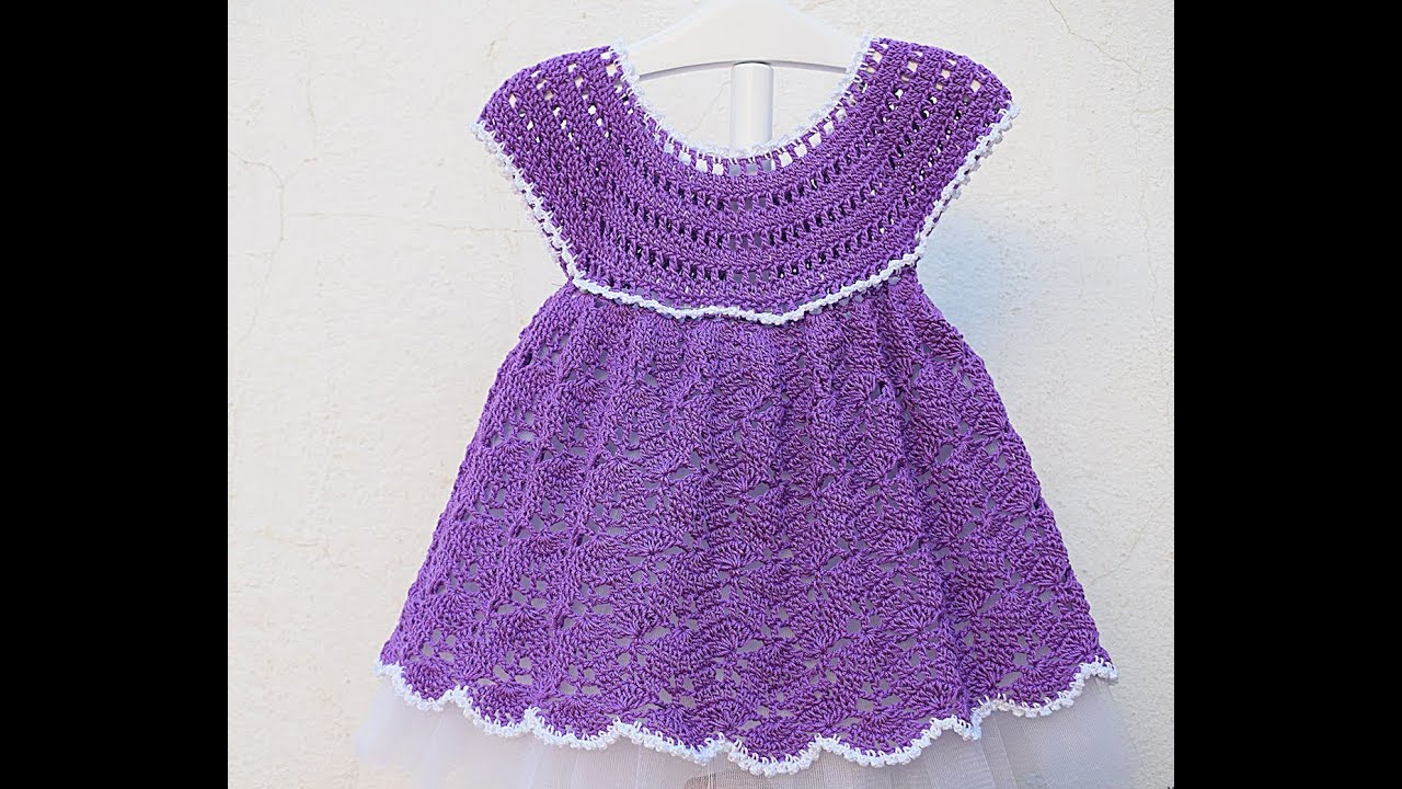 3 Cute Crochet Childrens Dress Patterns Crochet Girl Dress Very Easy Majovel Crochet Youtube