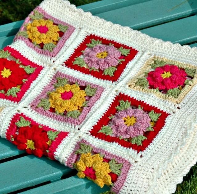 3 Inspirations of Easy Flower Crochet Pattern Vintage Flower Crochet Blanket Pattern And Kit Annie Design Crochet