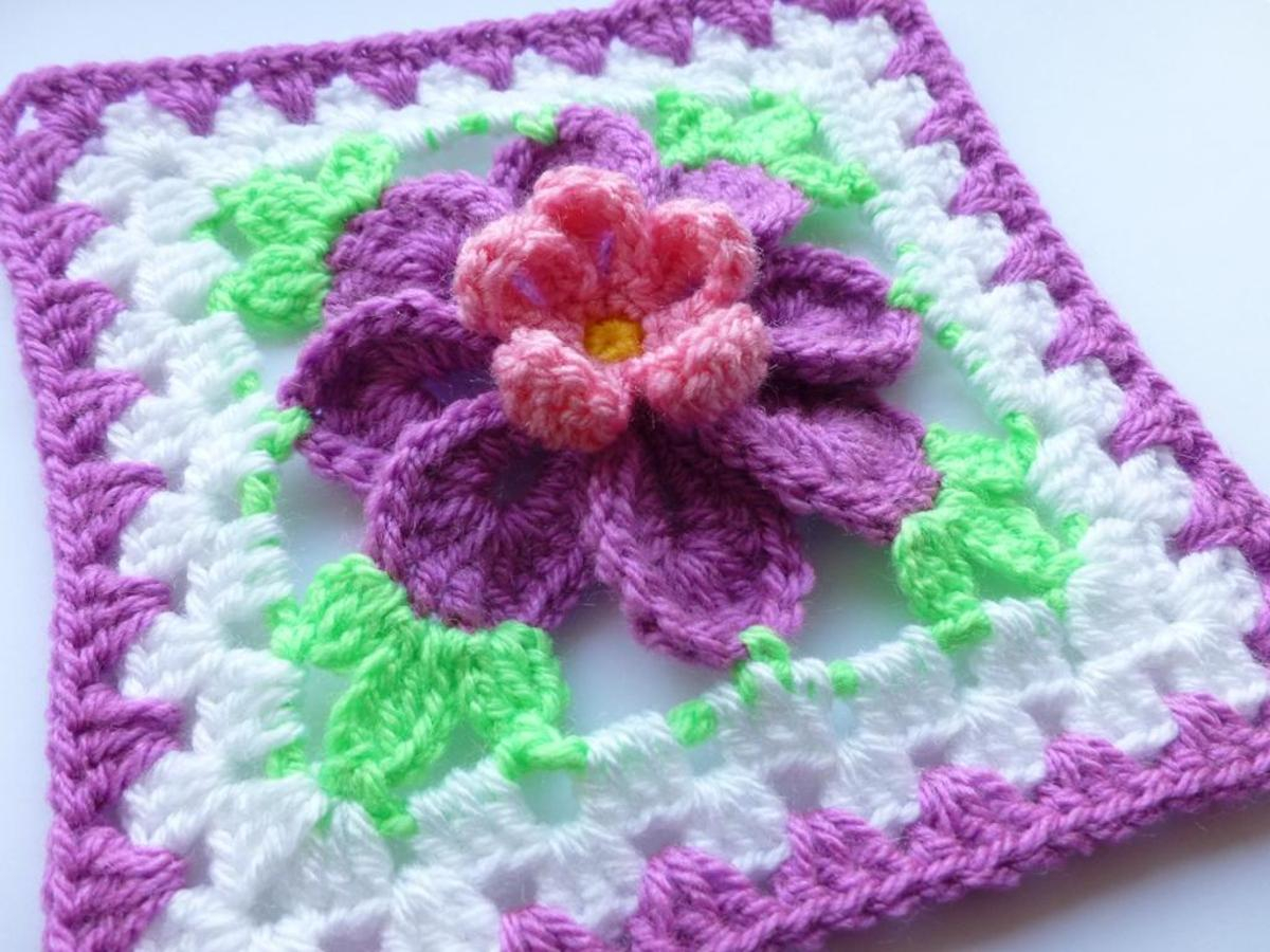 3 Magnificent Ideas of the Free Crochet Rose Afghan Pattern 10 Flower Granny Square Crochet Patterns To Stitch