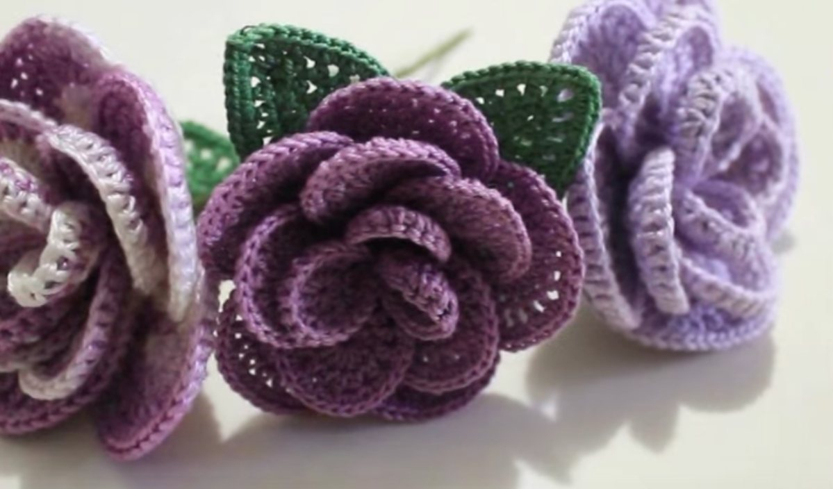 3 Magnificent Ideas of the Free Crochet Rose Afghan Pattern Crochet Roses Free Pattern Your Crochet