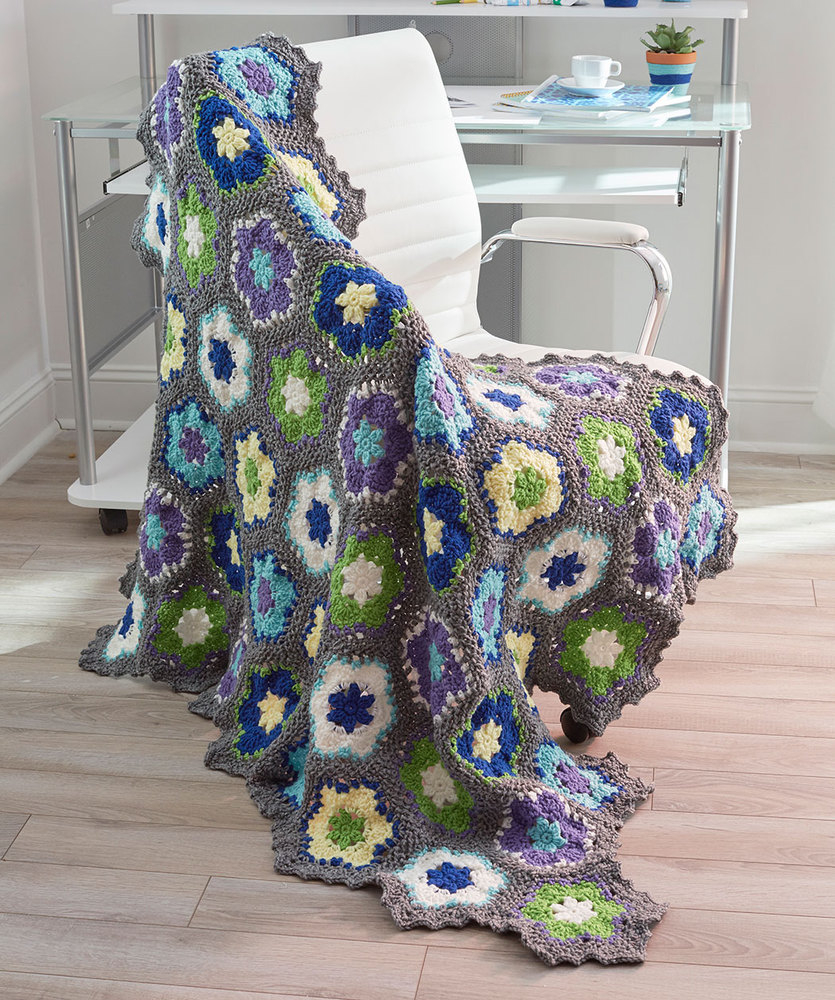 3 Magnificent Ideas of the Free Crochet Rose Afghan Pattern Flowers In Bloom Throw Red Heart