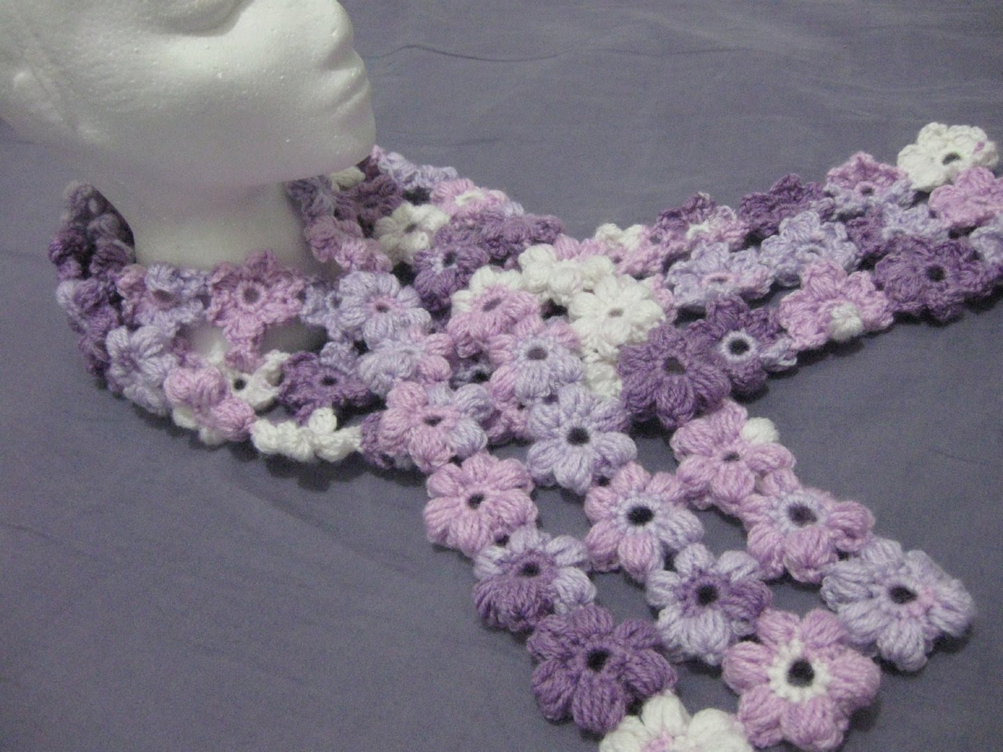 3 Magnificent Ideas of the Free Crochet Rose Afghan Pattern Gorgeous Scrap Yarn Puff Stitch Flower Scarf Pattern To Amp Up Your