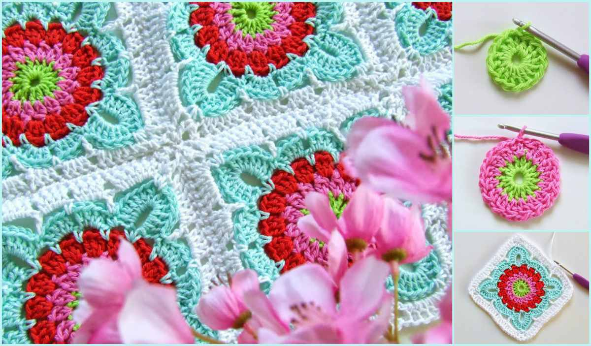 3 Magnificent Ideas of the Free Crochet Rose Afghan Pattern How To Crochet Large Flower Granny Square Blanket Tutorial Your