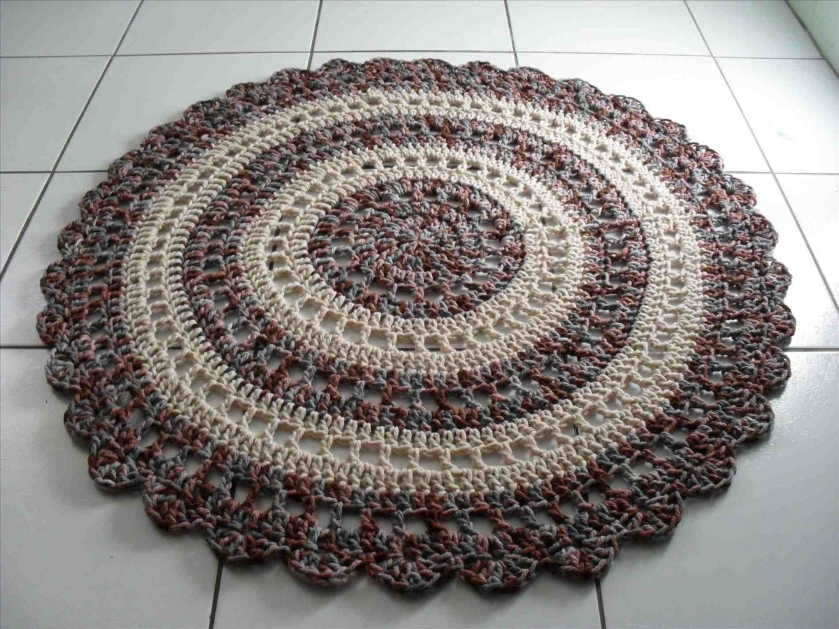 3 Motifs of Easy Crochet Oval Rug Pattern How To Crochet A Circle Rug 41 Crochet Rug Patterns The Funky Stitch