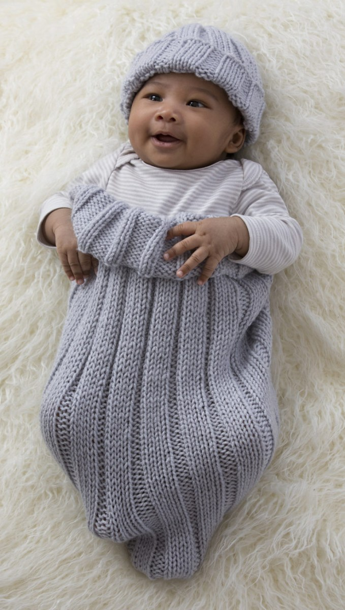 Crochet Cocoon Patterns For Newborns Ba Cocoon Snuggly Sleep Sack Wrap Knitting Patterns In The