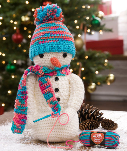Crochet Pattern For Snowman Crocheting Snowman Red Heart