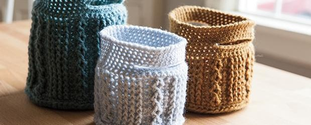 Crochet Patterns Baskets Crochet Cable Baskets Knitting Patterns And Crochet Patterns From