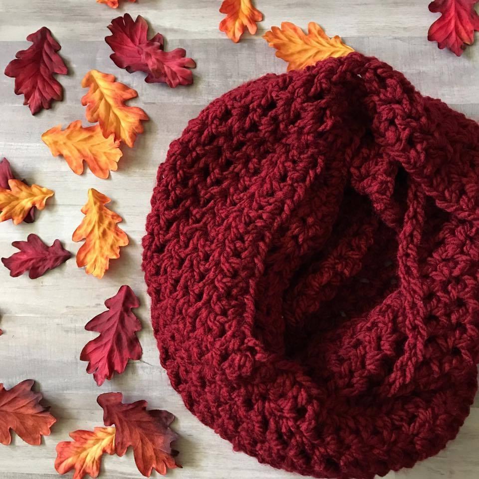 Free Infinity Scarf Crochet Pattern  Free Crochet Chunky Infinity Scarf Pattern Marias Blue Crayon