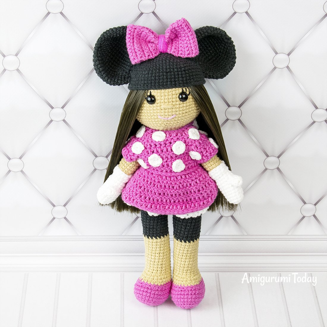 Quick Large Crochet Doll Patterns to Choose Amigurumi Today On Twitter This Crochet Doll In Minnie Mouse