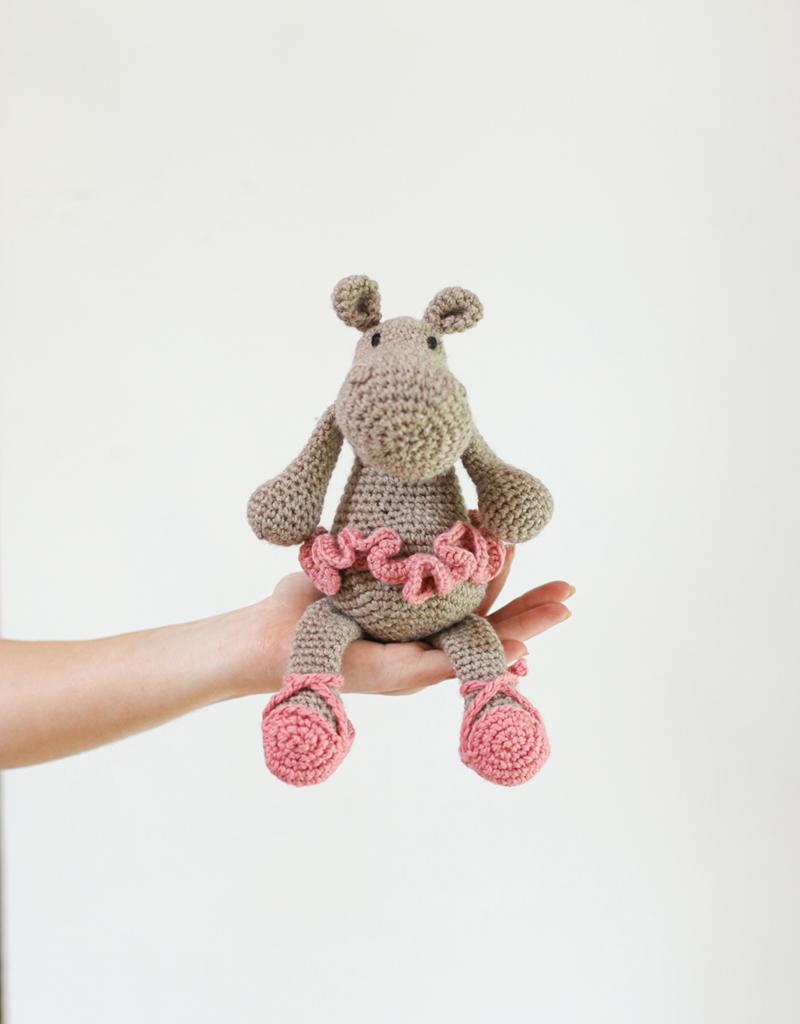 Quick Large Crochet Doll Patterns to Choose Crochet Ballerina Hippo Amigurumi Kit British Wool Toft