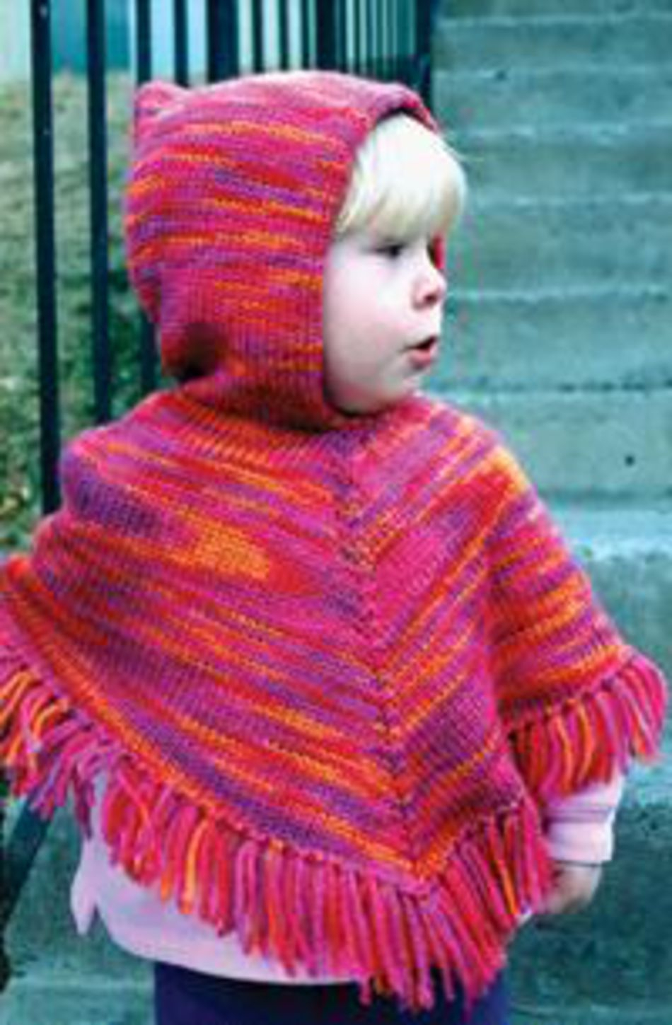Simple Poncho Crochet Pattern Childrens Hooded Poncho Knitting Pure And Simple Knitting