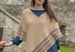 Simple Poncho Crochet Pattern Crochet Poncho The Fibre Co
