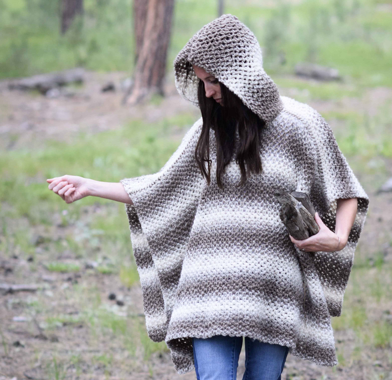 Simple Poncho Crochet Pattern Driftwood Oversized Crochet Hooded Poncho Pattern Mama In A Stitch