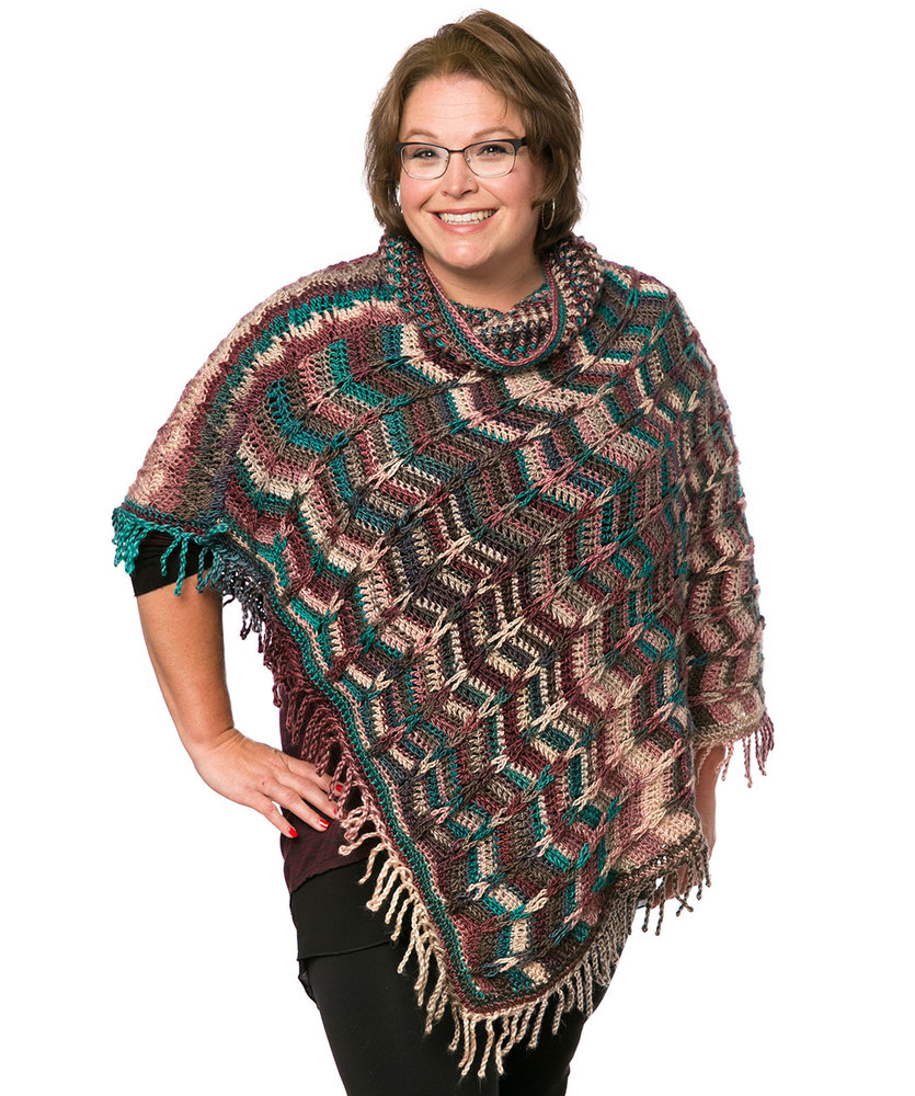 Simple Poncho Crochet Pattern Marlys Perfect Simple Cowl Poncho Red Heart