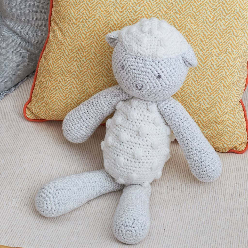 The Sweetest Crochet Lamb Patterns for Free Hand Crochet Lamb Toy Albetta Notonthehighstreet