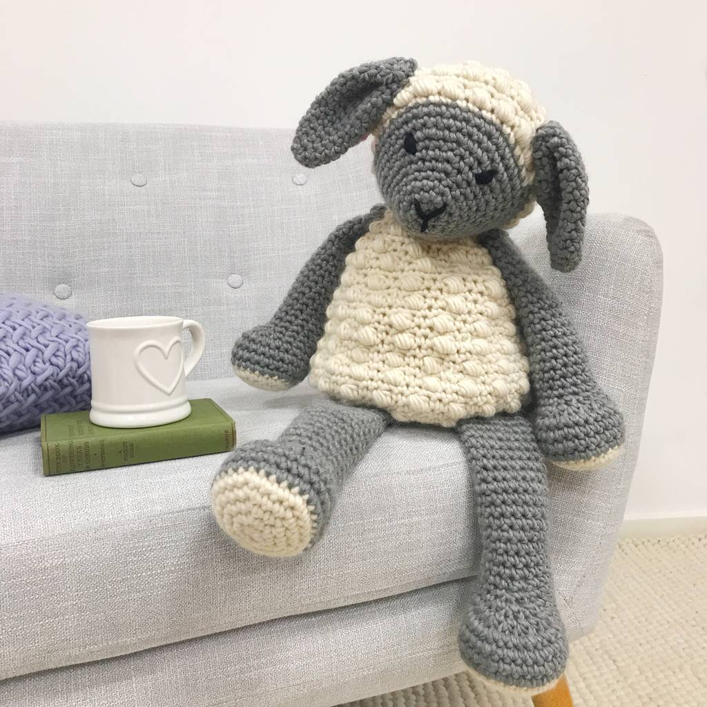 The Sweetest Crochet Lamb Patterns for Free Lionel Lamb Crochet Kit Wool Couture Notonthehighstreet