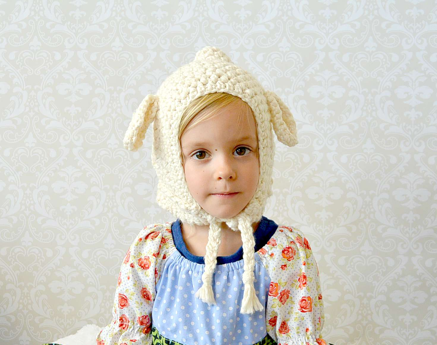 The Sweetest Crochet Lamb Patterns for Free Vintage Style Lamb Hat Toddler Crochet Lamb Hat Mama In A Stitch