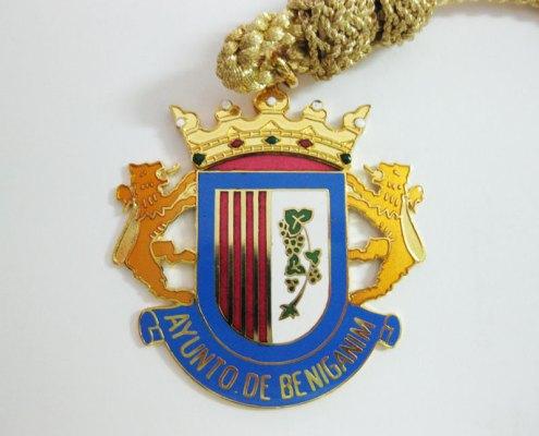 Medalla de cuello del Ayuntamiento de Beniganim