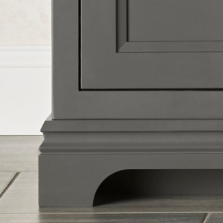 Portico Vanity - Base molding detail