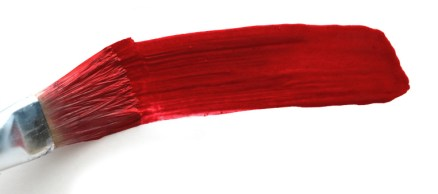 brushstroke red paint, art background