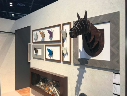 Formica booth_3D wall art