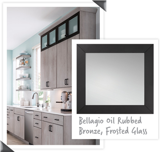 Medallion_Glenwood Peppercorn_Bellagio Oil Rubbed Bronze_Frosted Glass_collage