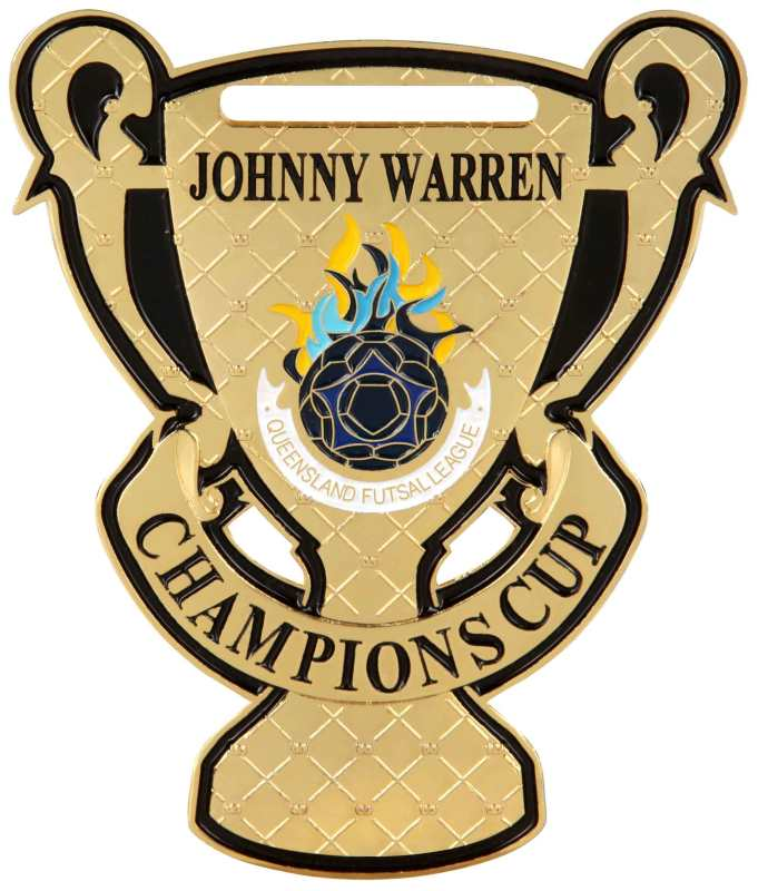 Medals Australia - Custom Designed Medals - Johnny Warren Champions Cup