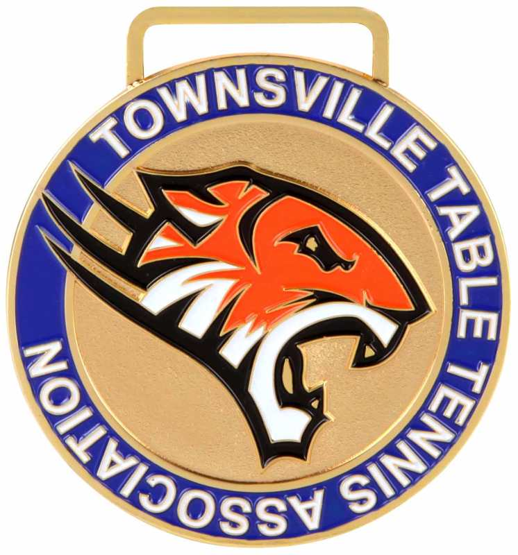 Medals Australia - Custom Designed Medals - Townsville Table Tennis Association