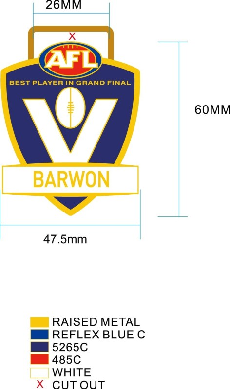 Medals Australia - Custom Designed Medals Artwork - AFL Barwon