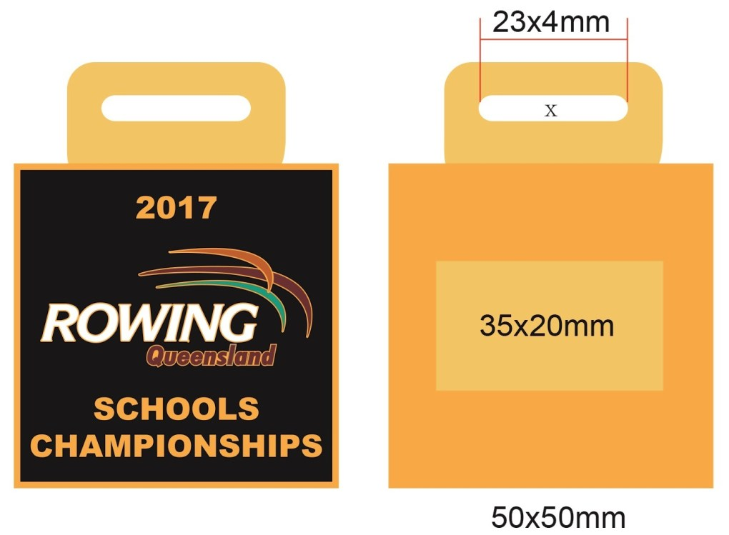 Medals Australia - Custom Designed Medals Artwork - Rowing Queensland