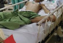 Muhammad Gunawan Syahputra (21), warga Jalan Melati Sari Rejo Medan Polonia yang mengalami sakit parah dan tidak memiliki biaya dirawat di RS Kajang Selangor Malaysia.