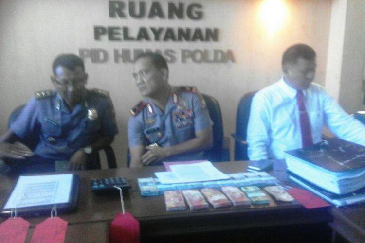 Kapolda Bengkulu, Brigjen (Pol) Choky Manurung saat menggelar konfrensi pers(KOMPAS.COM/FIRMANSYAH)