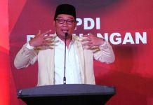 Wacana Duet Dedi-Deddy, PDIP Pertimbangkan Ridwan Kamil Lagi PDIP punya tiga opsi di Pilkada Jabar, salah satunya mempertimbangkan nama Ridwan Kamil. (ANTARA FOTO/Indrianto Eko Suwarso)