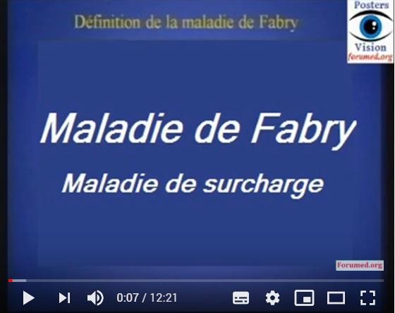 MALADIE DE FABRY Sphingolipidose