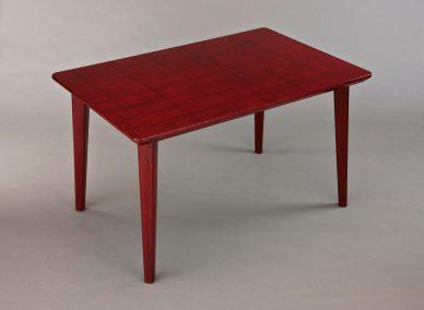 漆布みせダイニングテーブル・赤市松模様