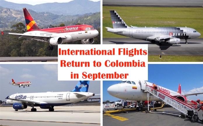 International Flights Return to Colombia Starting in September