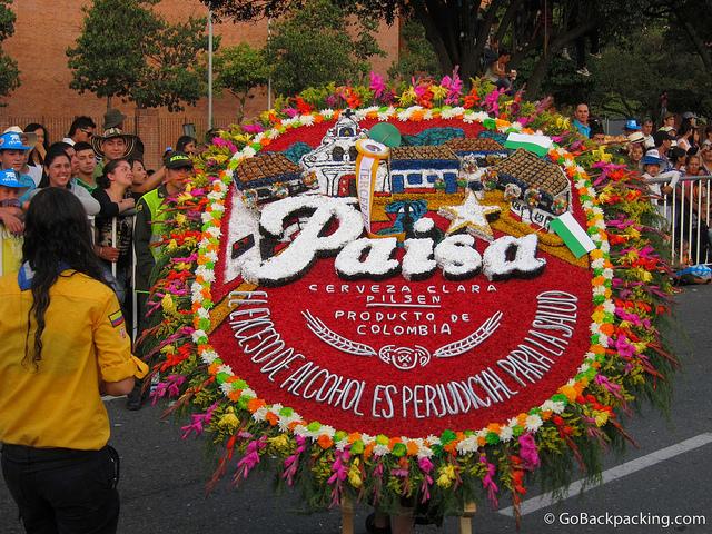 Flower parade in Medellin