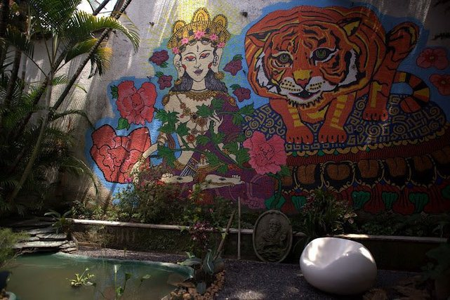 The garden is one of the prettiest parts of Urban Buddha.